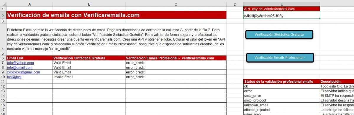 Validar Email Excel